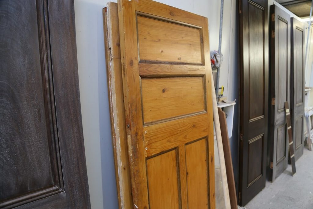 Pine Door Prior to Restoration